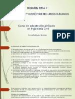 Tema 7 - NEGOCIACIÓN Y GESTIÓN DE RECURSOS HUMANOS