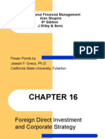 Foreign direct investment and corporate strategy