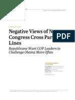 Negative Views on GOP Led Congress