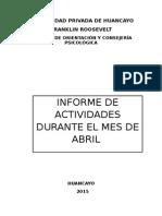 Modelo de Informe Psicologico Semestral