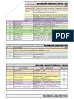 Programa Arquitectonico - Mirador, Malecon, Ciclovia y Albergue