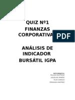 IGPA Índice General de Precios de Precios de Acciones