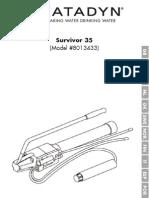 Dessalinizador Manual Katadyn Survivor35 PO