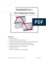 Reasonance Circuit Experminte