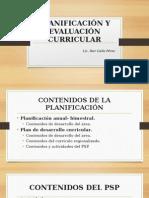 Planificación y Evaluación Curricular