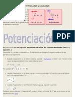Potenciacion ,Radicacion,Logaritmo y Proporcionalidad