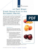 Product Factsheet Stonefruit Europe Fresh Fruit Vegetables 2014