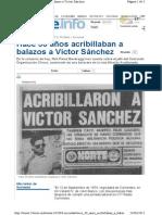 Asesinan a Victor Sanchez