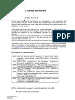 European Criminal Justice Documents