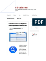 Como desactivar Spotlight en tu Mac para ahorrar recursos | Blog de K-tuin.com