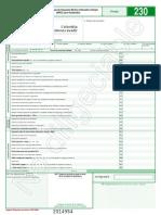 Formulario 230 de 2014, P.N. Empleados