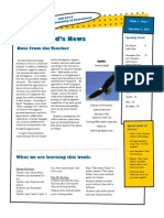 eled 474 classroom news letter