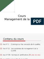 Cours Management de La Qualité