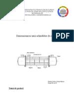 Dimensionarea unui schimbător de căldură
