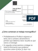Las Herramientas de Word Para El Investigador A2015