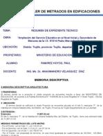 Resumen de Expediente Tecnico (Cespri)