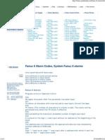 Fanuc 6 Alarm Codes, 6T 6M ..