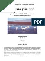 EL LITIO EN BOLIVIA