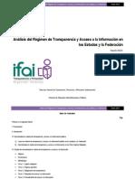 Régimen de Transparencia en México 2014