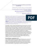 Tecnologías de La Información y La Comunicación (TICs), Productividad y Competitividad