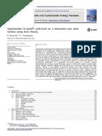 Optimizacion Del Coeficiente de Potencia en Turbinas de Eje Horizontal