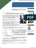 La Mecánica Cuántica Cumple 110 Años (I))