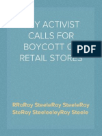 GAY ACTIVIST CALLS FOR BOYCOTT OF RETAIL STORES