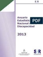 Anuario Estadistico Nacional Sobre Discapacidad -2013