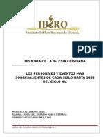 Personages y Eventos Del Siglo I Al XV Istoria de La Iglesia
