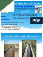 Ensayos de Suelos Para Canal de Irrigacion