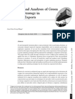Incidences and Analyses of Green Marketing Strategy in Colombian Exports