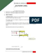 Dilatacion Lineal Fisica 23232