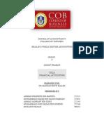 PSA Project- Group of AHMAD SHABIRIN BIN BAHRIN (Financial Accounting)