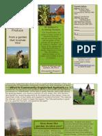 St Isidore's Garden CSA Brochure