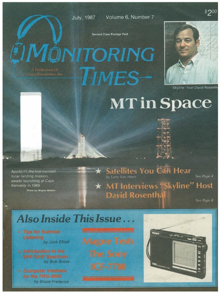 07 July 1987 | Satellite | Radio Spectrum