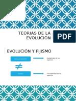 Teorias de La Evolución