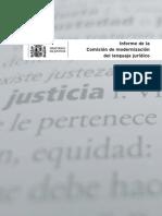 Informe de la Comisión de modernización del lenguaje jurídico