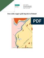 Cu Gold Deposits in Finland