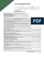 Evaluacion de Articulacion Protocolo