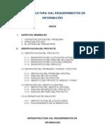 Infraestructura Vial Requerimientos de Información