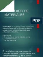 Reciclado de Materiales