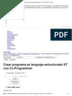 Crear Programa en Lenguaje Estructurado ST Con Cx-Programmer - InfoPLC