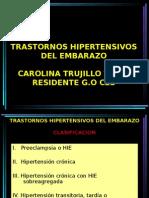 Trastornos Hipertensivos Del Embarazo - Presentacion