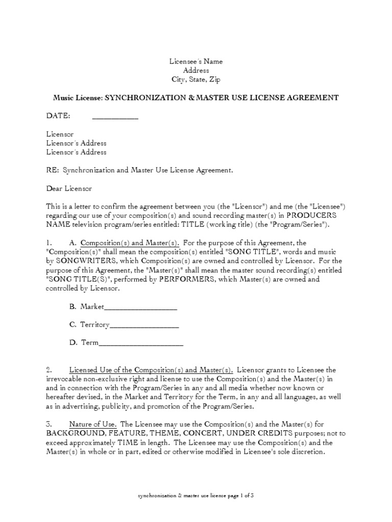 Licensing Agreements License Indemnity