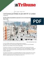 Land Prices Put Dhaka on Par With NY or London _ Dhaka Tribune