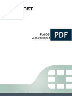 fortigate-authentication-52 pdf | Radius | Virtual Private