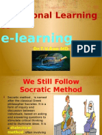 Traditional Learning to  e-Learning