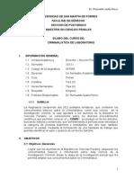 Silabo 2012-I Criminalistica de Laboratorio