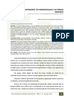 Iguais, Mas Separados. Os Homossexuais e as Forças Armadas