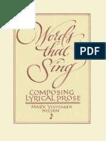 Words That Sing Composing Lyrical Prose